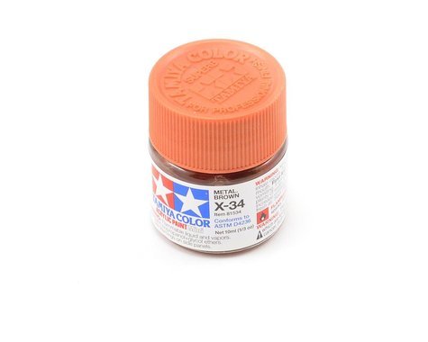 Tamiya X-34 Metallic Brown Acrylic Paint (10ml)