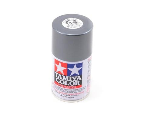 Tamiya TS-42 Light Gun Metal Lacquer Spray Paint (100ml)