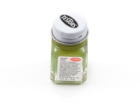 Testors Flat Olive Green Enamel Paint 1/4oz