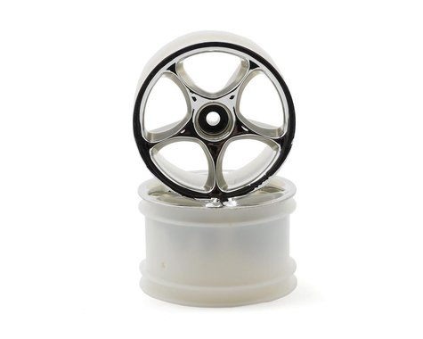 """Traxxas 2.2"""" Bandit Rear Tracer Buggy Wheels (2) (Chrome) (Pins)"""