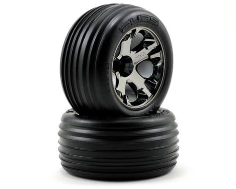Traxxas Alias Front Tires w/All-Star Wheels (2) (Black Chrome) (Standard)
