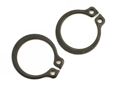 Traxxas Rings, retainer (snap rings) (14mm) (2)