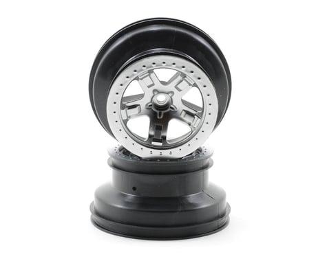 Traxxas Dual Profile Short Course Wheels (Satin Chrome) (2) (Slash Rear)
