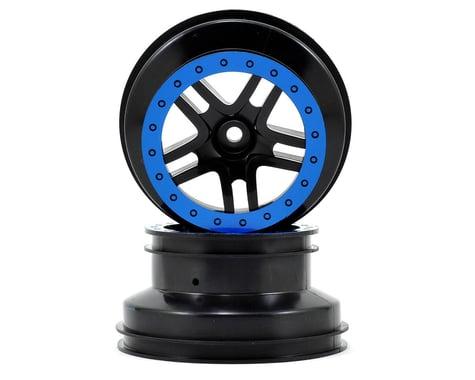 Traxxas Dual Profile Split-Spoke SCT Wheels (Black/Blue) (2) (Slash Front)