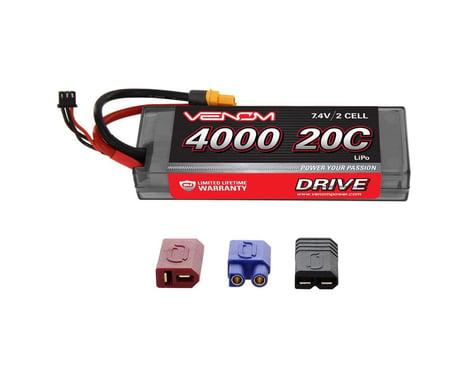 Venom Power DRIVE 20C 2S 4000mAh 7.4V LiPo HC  : UNI 2.0 Plug