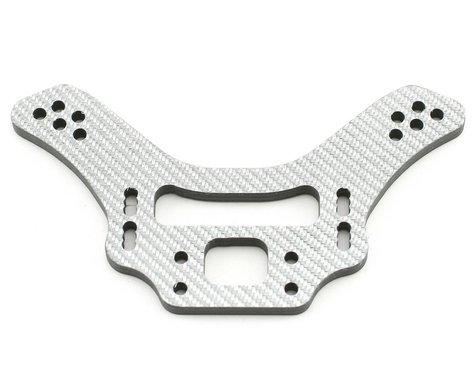 Xtreme Racing Kyosho Lazer Thick Silver Carbon Fiber Rear Shock Tower (4mm)