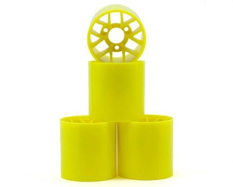 Yokomo 1/12 Pan Car Rear Wheel Set (4) (Yellow)
