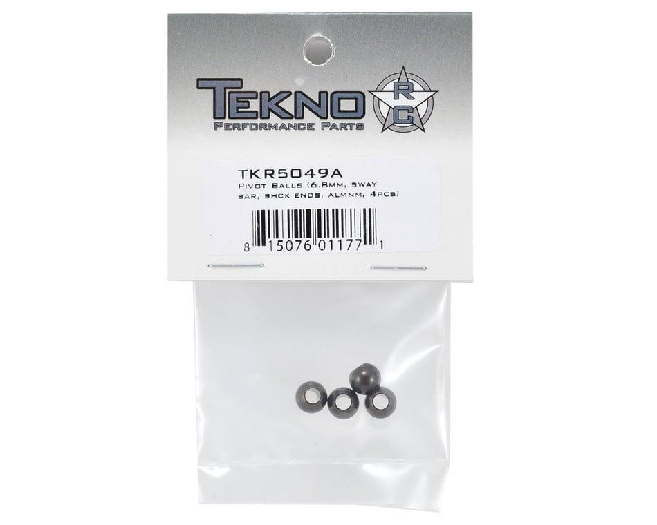 Tekno RC Pivot Balls 6.8mm No Flang Sway Bar Shock Ends Alum 4pcs TKR5049A for sale online